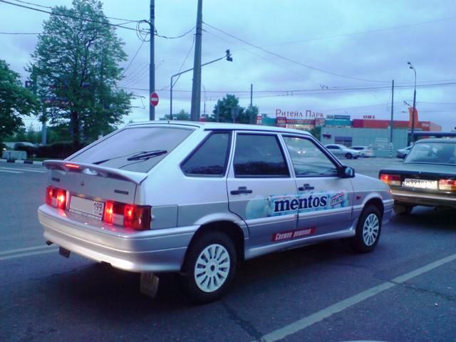 Perfetti Van Melle (Ментос) - корпоративный автомобиль торгового представителя